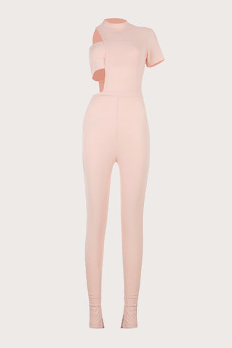 back_Michaela Elma Light Pink Jumpsuit