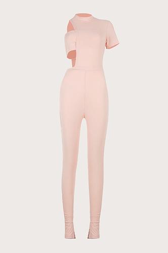 back_Michaela Elma Light Pink Jumpsuit