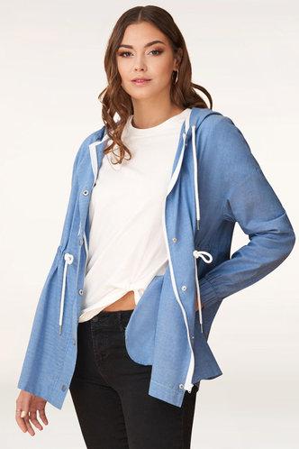 front_Breaking Free Denim Blue Shirt Jacket