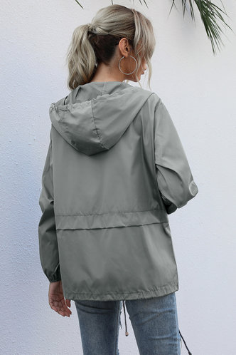 back_Levana Grey Windbreaker