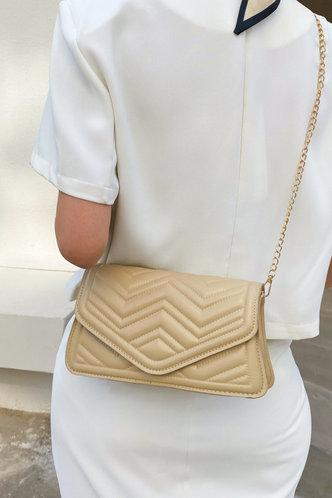 back_Casual Vacation Plain Metallic Button Khaki Crossbody Bags