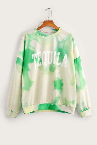 back_Barbie Edwina Green Tye Dye Sweatshirt