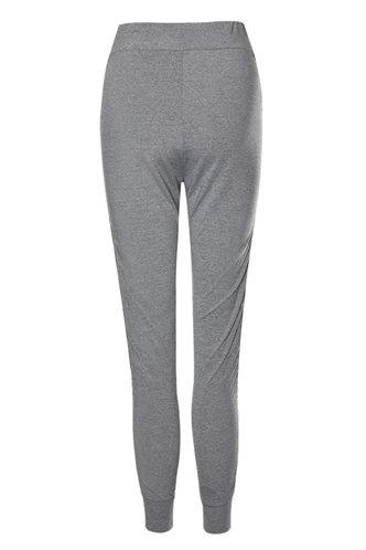 back_For Comfort Grey Marled Leggings