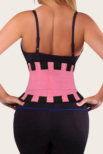 back_Wanda Eleanore Black And Pink Velcro & Zip Corset Shapewear