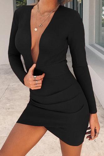 front_Cinderella Ella Black Openback Bodycon Dress