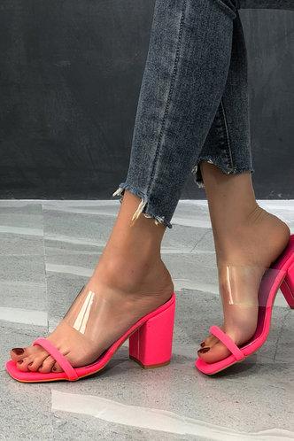 back_Iris Elaine Rose Pink Open Toe Heeled Mule Sandals