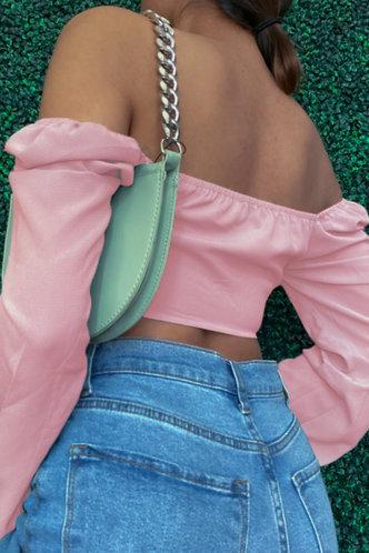 back_Nana Eve Pink Off Shoulder Crop Blouse