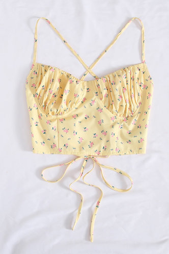 front_Sweet Whispers Yellow Cami