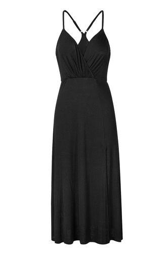 back_Tranquility Black Midi Dress