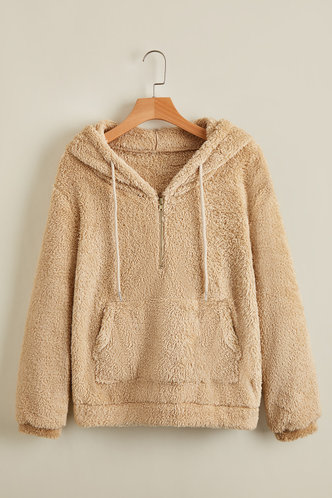 front_Posy Camel Hoodie