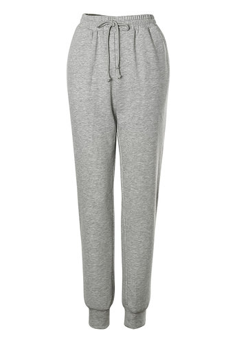 front_Old School Light Grey Marled Sweatpants