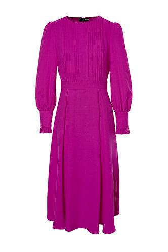front_Princess Fuchsia Pleated Dress
