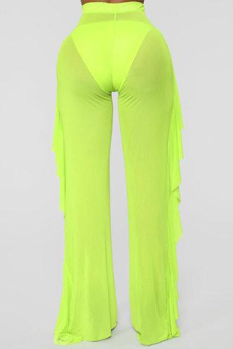 back_Maria Elva Lime Green Pants