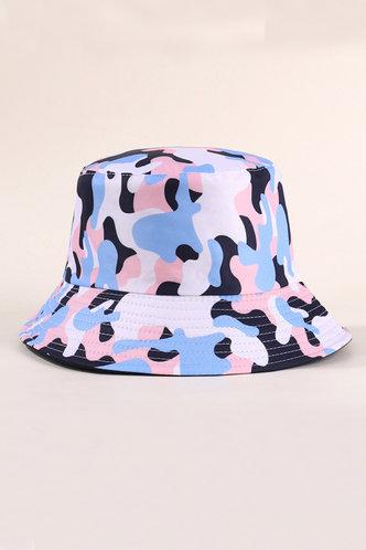 front_Imogene Ella Blue Camo Bucket Hat