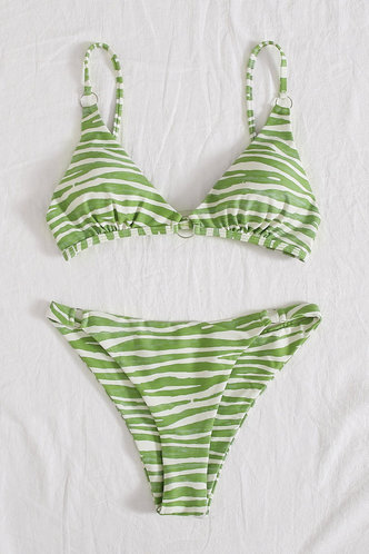 back_Kimbrough Edwina Green Zebra Stripe Bikini