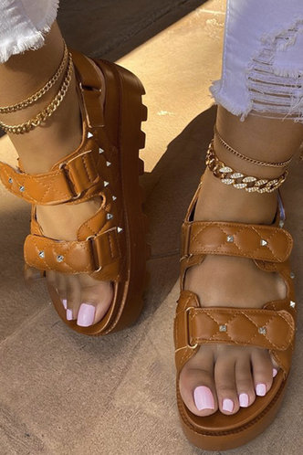 front_Dolores Marist Brown Wedge Sandals