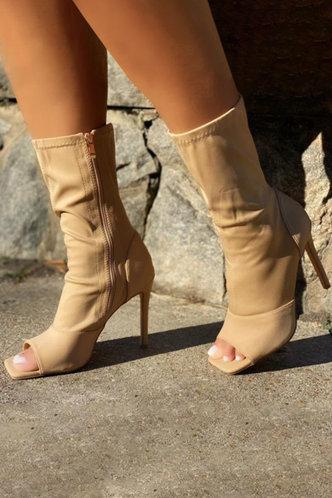 back_Madeleine Eve Khaki Stretch Boots