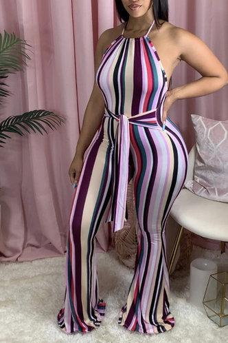 front_Diana Korjas Striped Jumpsuit