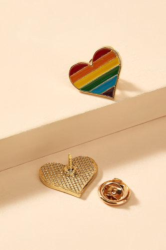 back_Gloria Land Multicolor Heart Design Brooch 2pcs