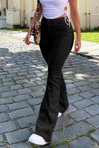 back_Racham Black Flare Jeans