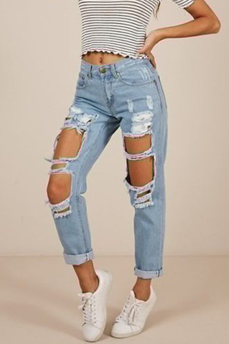 front_Judie Eileen Blue Ripped Jeans