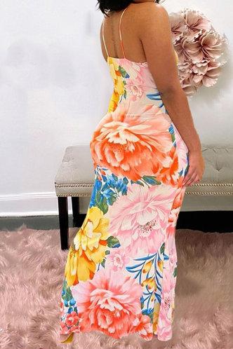 back_Bea Emily Floral Print Bodycon Cami Dress