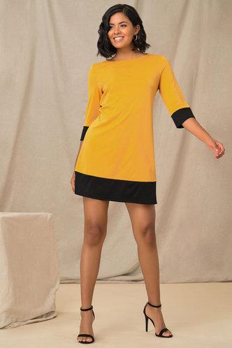 front_Bumble Babe Yellow Tunic Dress