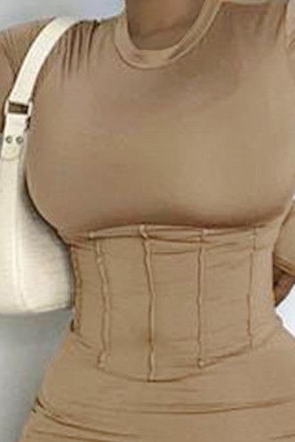 back_Bethel Eudora Brown Bodycon Dress