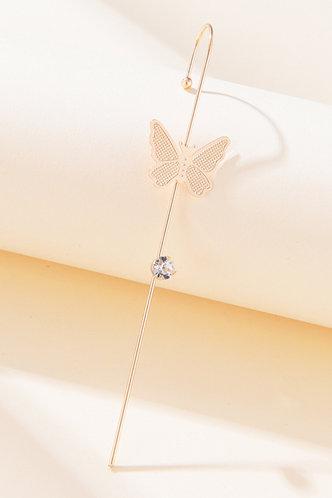 back_Butterfly Gold Earring