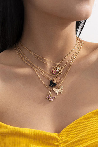 front_Casual Boho Gold Necklaces