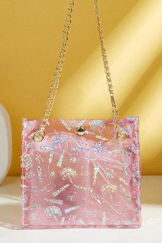 front_Eudora Horbek Pink Shoulder Bag