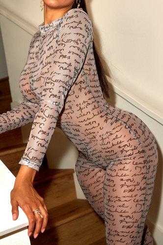 front_Katy Elsie Letter Print Jumpsuit