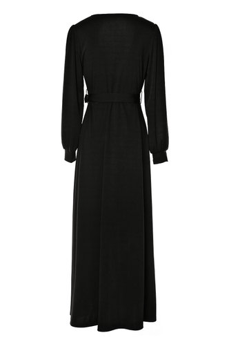 back_After Hours Black Wrap Dress