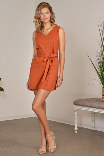 front_Dreamt Orange Mini Dress