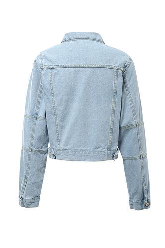 back_Pick Me Up  Pastel Blue Denim Jacket