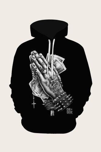 back_Casual Graphic Black Men Sweatshirts & Hoodies