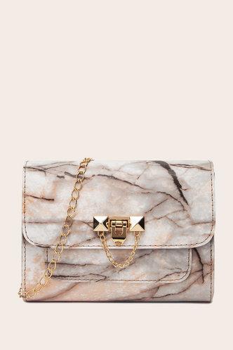 front_Dinah Herb Marble Print Crossbody Bag