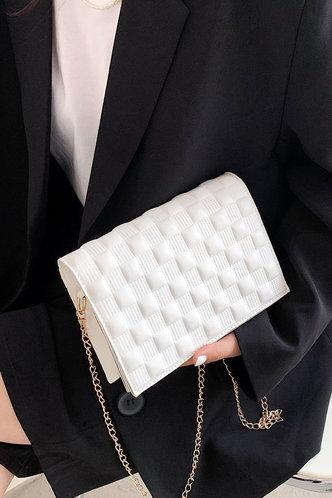 front_Cleopatra Elvira White Crossbody Bag