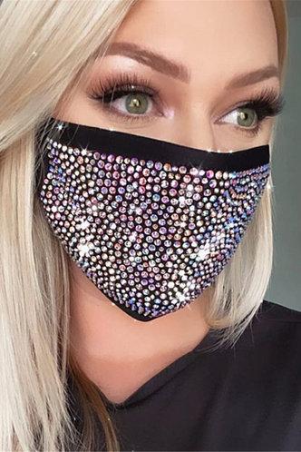 front_Fannie Elaine Black Diamond Face Mask