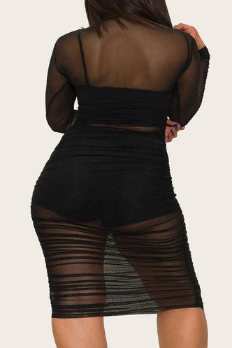 back_Minerva Ella Black Plus Bodycon Dress