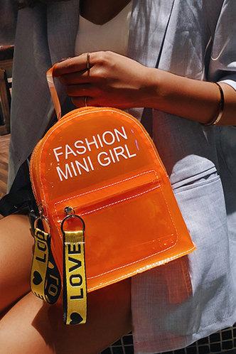 front_Katrina Fiskan Orange Bagpack