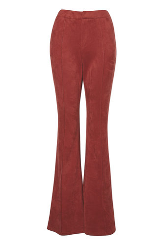 front_Groovy Burgundy Suede Pants
