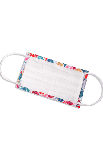 back_Non-medical Pattern Cotton Reusable Face Mask With Filter Pocket