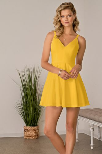 back_Psyche Yellow Mini Dress