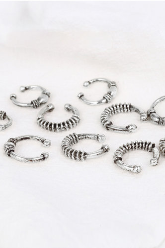 front_Cassie Elma Sliver Hair Ring 10pcs
