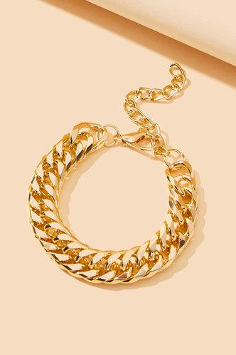 back_Magdalen Eleanore Gold Simple Chain Bracelet