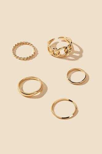 back_Modesty Eileen Gold Chain Decor Ring 5pcs