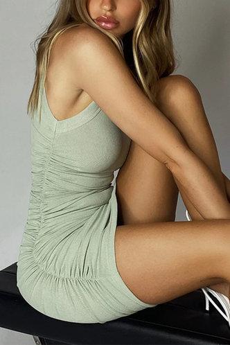 back_Justine Elsa Mint Green Plus Ruched Bodycon Dress