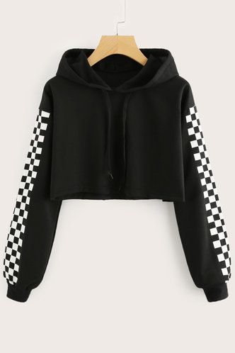 front_Blanche Black Hoodie