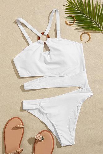 back_Kelly Eileen White One-Piece Swimsuit